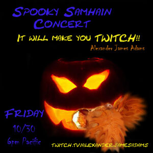 Twitch and Jump! Spooky Samhain Concert! @ Live Concert Online